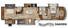Solitude Fifth-Wheel Specifications | Grand Design RV 366DEN