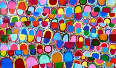 Aboriginal Artwork by Sally Clark. Sold through Coolabah Art on eBay. Cataogue ID 14298