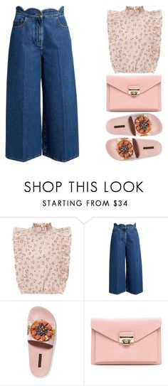 """""""STREET STYLE off 457"""" by juuliap ❤ liked on Polyvore featuring Valentino, Dolce&Gabbana and ruffledtops"""