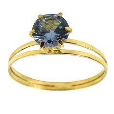 Anel Modelo Cálice em Ouro 18K com Zircônia | Anel Solitário de Ouro | Anel de ouro Feminino com Brilhantes | Anéis de Ouro 18k 0,750 | Jóias RDJóias | RDJ Jóias