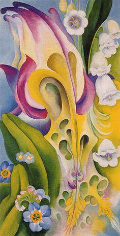"""From the Old Garden No 2 -- 1924 -- Georgia O'Keeffe -- American -- Oil on canvas -- No further reference provided."