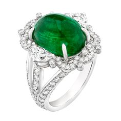 Fabergé Devotion Emerald 9.07ct Ring #Fabergé #emerald #ring