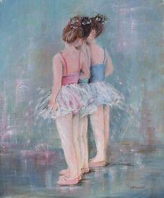 Dancing Trio Original Painting by Gail McCormack
