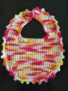Not My Nana's Crochet!: Crochet Picot Stitch Baby Bib - Free Pattern