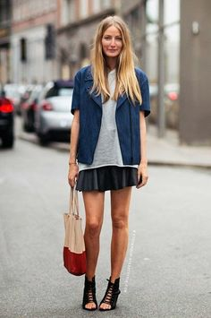 Casual flippy skirt - street style fashion