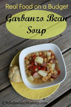 Garbanzo Bean Soup From WholesomeMommy.com