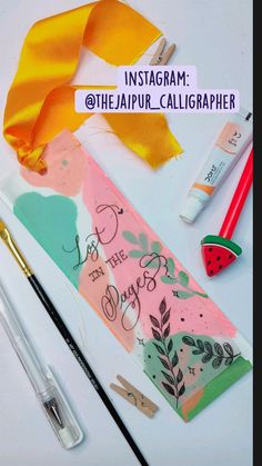 Bookmark Craft, Diy Bookmarks, Bookmark Ideas, Watercolor Bookmarks, Magazine Crafts, Mandala Art Lesson, Doodle Art Designs, Art Painting Gallery, Paint Swatches
