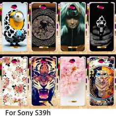 Soft Smartphone Cases For Sony Xperia C S39h C2305 5.0 inch Case Minions Flowers Hard Back Cover Skin Housing Sheath Bag Shells