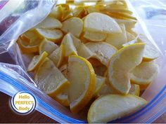 This is The Reason Why You're Going To Freeze Lemon From Now On!   Hello Perfect Body