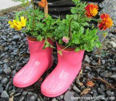 Des bottes minis jardins