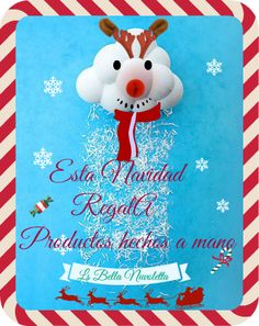 Esta Navidad regala productos hechos a mano Snoopy, Christmas Ornaments, Holiday Decor, Character, Home Decor, Art, Facts, Products, Hand Made