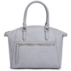 ShoeDazzle Bags Danu Womens Gray ❤ liked on Polyvore featuring bags, handbags, grey, wallets & cases, grey purse, handbag purse, purse tote, hand bags and tote purses