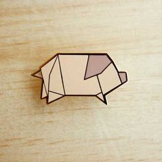 Image of Origami pins: Pig