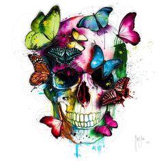 skull art by @patrice_murciano #skull #skullart #paint #painting #art #arts…