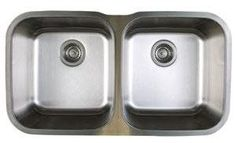 """View the Blanco 441020 Stellar Equal Double Bowl Stainless Steel Undermount Kitchen Sink 33 1/3"""" x 18 1/2"""" at Build.com."""