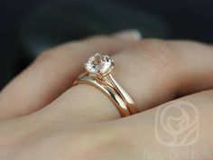 I just want a simple diamond and a not too thin gold maybe rose gold band. Flora & Plain Kierra Rose Gold Round Morganite Tulip Cathedral Solitaire Wedding Set (Other metals and stone options available) Wedding Rings Simple, Wedding Rings Rose Gold, White Gold Rings, Unique Rings, Morganite Engagement, Gold Engagement Rings, Engagement Ring Settings, Engagement Ideas, Halo Engagement