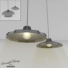 Foscarini Dizel 3dsMax 2012 + fbx (Vray) : Ceiling light : 3dSky - 3d models