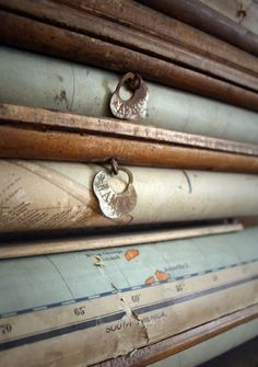 Vintage Maps.... Great blue and brown texture