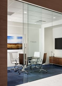 Sola Chairs and Ekko Table from Davis Furniture in the Northwestern Mutual Offices - Austin, TX - designed by Acquilano Inc. Wood Slat Ceiling, Floor To Ceiling Windows, Room Color Schemes, Room Colors, Office Interior Design, Office Interiors, Marble Look Tile, Bedroom Colour Palette, Office Carpet