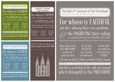 Instant Download - Oath & Covenant of the Priesthood - by simplyfreshdesigns