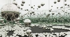 The concurrent exhibition Yayoi Kusama: Infinity Nets is on view at 34 East Street o. Infinity Mirror Room, Infinity Room, Infinity Spiegel, Mirror Ceiling, Yayoi Kusama, Japanese Artists, Installation Art, Art Installations, Art