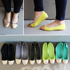 DIY Gold-Tipped Ballet Flats