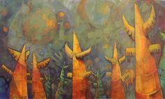 Miguel Curani. Artista plástico: en las profundidadesoleo s/tela60x120cm