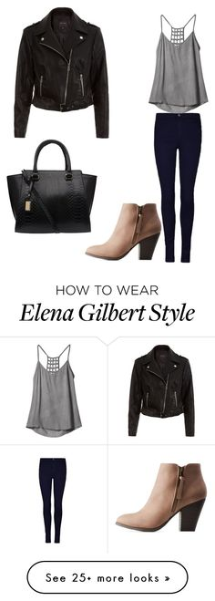 """Elena Gilbert tvd♡"" by tayaltendorf on Polyvore featuring RVCA and Charlotte Russe"