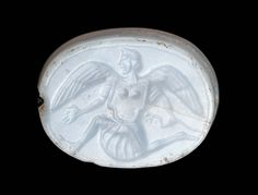 Scaraboid gem with winged monster | Museum of Fine Arts, Boston