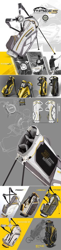 New 2013 Sun Mountain golf bag range, including the Three5, the Four5, the Front 9, the Sync, the Series One and the Hybrid