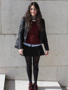 ccpetiterobenoire Outfit   Invierno 2012. Combinar Falda Negra Zara, Cómo vestirse y combinar según ccpetiterobenoire el 26-2-2013