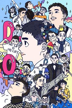 Fan art of Do Kyung-soo (도경수) also known mononymously as D.O. (디오) of EXO (엑소) for his birthday on 170112. || ©langmanpanda on FanBook. | 랑판 (@Langmanpanda) on Twitter.