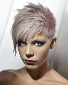 Short, spiky hairstyles are very popular with women because they can suit so many styles! An edgy, punky style goes brilliantly with short spiky hair, but it. Short Emo Hair, Short Spiky Hairstyles, Short Pixie Haircuts, Short Hair Cuts, Cool Hairstyles, Short Hair Styles, Punk Pixie Haircut, Cropped Hairstyles, Asymmetrical Hairstyles