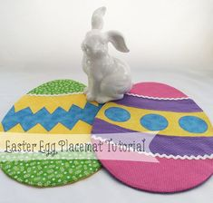 Brighten up your Easter decorations with a set of pretty quilted Easter Egg placemats.