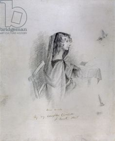 Anne Bronte (1820-49), 1833 (pencil on paper) by Charlotte Bronte