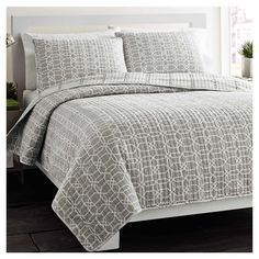 Found it at AllModern - Puzzle Quilt Set in Grey http://www.allmodern.com/deals-and-design-ideas/p/Five-Star-Style%3A-Luxe-Bedding-Puzzle-Quilt-Set-in-Grey~XRT1445~E15925.html?refid=SBP
