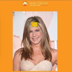 """Die Website """"How old"""" misst wie alt man auf Fotos aussieht. Hier: Jennifer Aniston."""