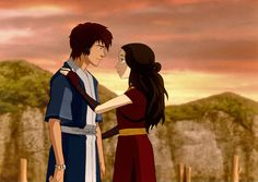 This is set in an alternate universe where zuko is a water bender and katara is the fire princess. Wow