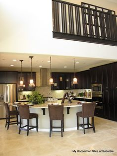 rounded island lighting along the bend. Kitchen layout idea - knock down FR wall to have open rounded counter and close up door to LR Kitchen On A Budget, Kitchen Redo, Living Room Kitchen, Kitchen Layout, New Kitchen, Kitchen Remodel, Kitchen Design, Kitchen Island, Kitchen Ideas