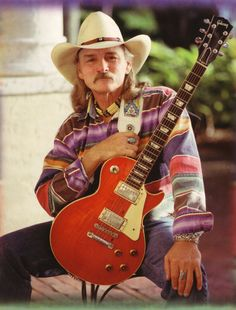 """Richard """"Dickey"""" Betts ~ Co-founder, guitarist, vocalist of The Allman Brothers Band (now fronting Great Southern). Berry Oakley, Dickey Betts, Ranger, The Jam Band, Allman Brothers, Music Icon, Music Music, Blues Music, Gibson Les Paul"""