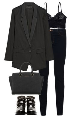 """Geen titel #2455"" by chiara-rinaldi ❤ liked on Polyvore featuring Monki, J Brand, rag & bone, MICHAEL Michael Kors and Yves Saint Laurent"