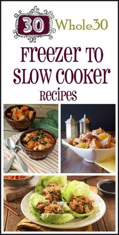 Planning is crucial to a successful Whole 30. Set yourself up for success with these 30 Whole30 Freezer to Slow Cooker Recipes #slowcooker #recipe #crockpot #easy #recipes