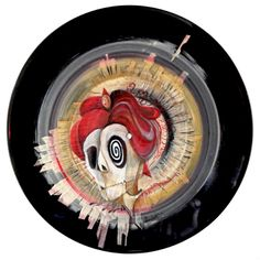 """this was the first one (Tom) for the Spin that Record exhibition series - named after Genesis' song """"mama"""" National Museum, Magazine Art, Vinyl Records, Spinning, Contemporary Art, Art Pieces, Hand Spinning, Artworks, Modern Art"""