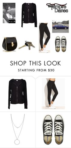"""Scratching the Surface // Haunted I"" by hexgirlx ❤ liked on Polyvore featuring Velvet by Graham & Spencer, Botkier, Converse, Chloé and Avon"