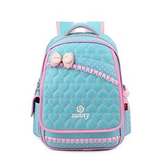 9707080d699f Amazon.com  Vere Gloria Children School Backpack Bags for Primary Girls  Students PU Leather Bow (Black)  Sports   Outdoors
