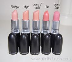 MAC Nude Lipsticks | Hue Is The Perfect Mixture Of Nude Soft Pink-Gives Off A Na...
