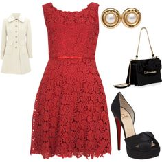 LIttle Red Dress, created by believemelly.polyvore.com