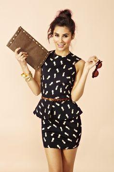 Pina Peplum Dress