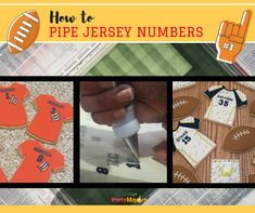 I have just finished with football, baseball, and softball team orders. Many of them I had to make jerseys. Numbers can be very tricky. So I tried royal icing transfers for the first time. Worked o…