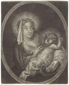 Johann Friedrich Leonard | Maria met het Christuskind, Johann Friedrich Leonard, 1669 |
